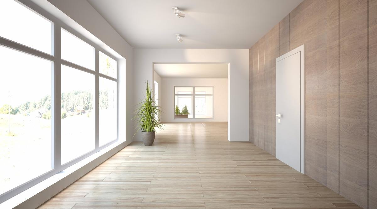 foto piso laminado clicado com 12 anos de garantia de